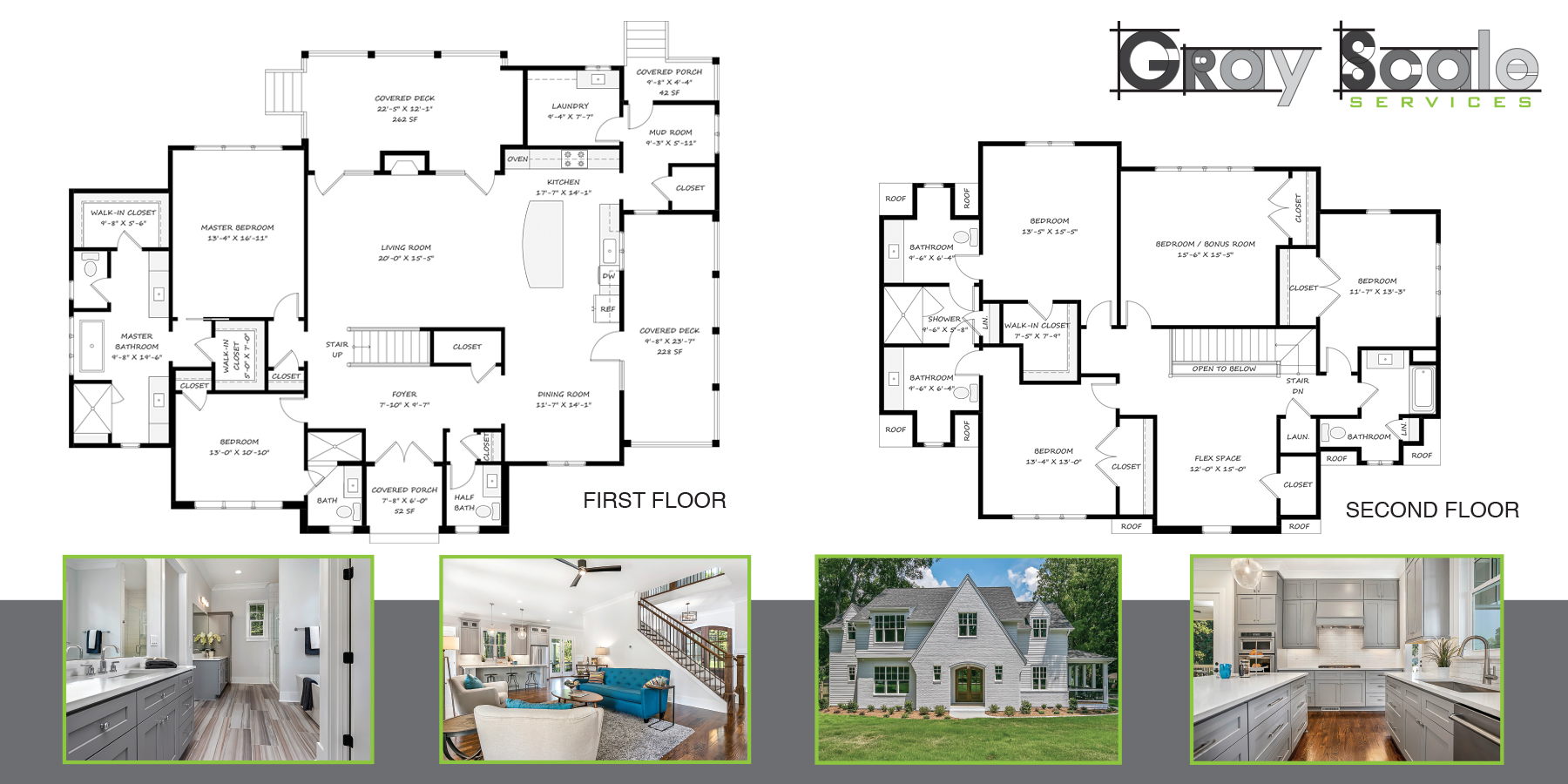 Gray Scale Services Professional Measuring Services and Floorplan Banner