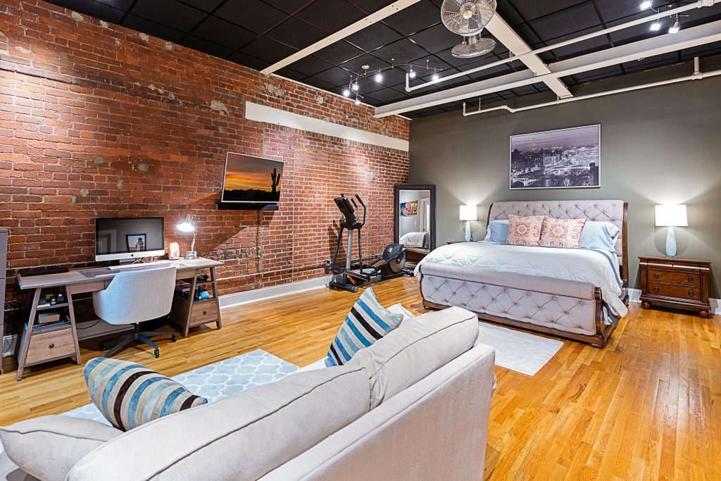 Quality photographs were taken at Factory South of this beautiful loft studio condo. It was on the market one day before going under contract!
